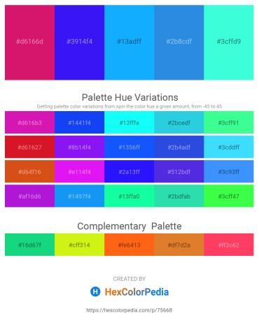 Palette image download - Medium Violet Red – Blue – Deep Sky Blue – Royal Blue – Aquamarine