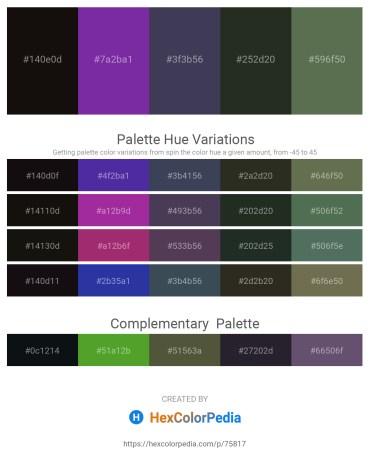 Palette image download - Black – Dark Orchid – Blue Violet – Dark Slate Gray – Dark Olive Green