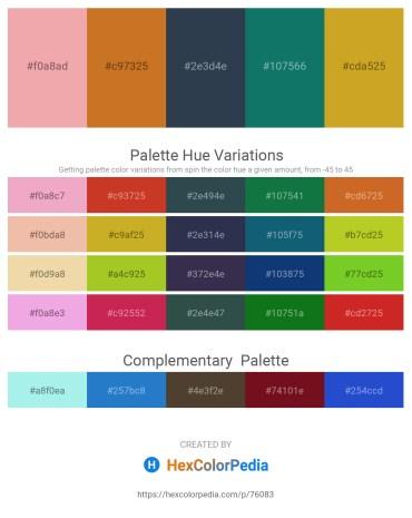 Palette image download - Dark Salmon – Chocolate – Dark Slate Gray – Teal – Goldenrod