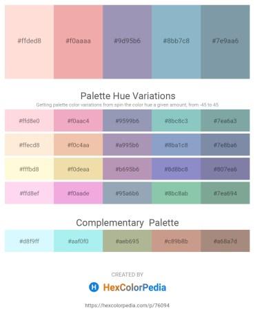 Palette image download - Misty Rose – Dark Salmon – Light Slate Gray – Light Steel Blue – Light Slate Gray