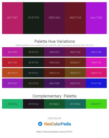 Palette image download - Medium Violet Red – Dark Slate Gray – Chocolate – Chocolate – Blue Violet