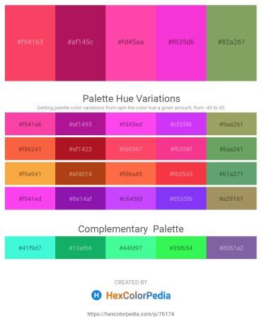 Palette image download - Tomato – Medium Violet Red – Hot Pink – Magenta – Dark Sea Green