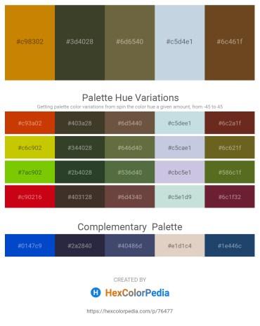 Palette image download - Dark Goldenrod – Dark Olive Green – Dark Olive Green – Light Steel Blue – Sienna