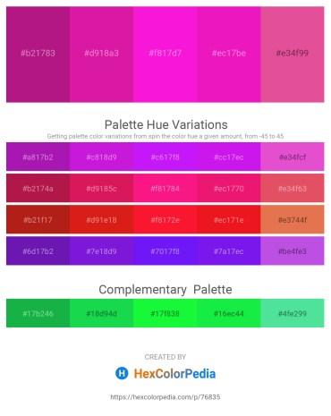 Palette image download - Medium Violet Red – Medium Violet Red – Magenta – Deep Pink – Pale Violet Red