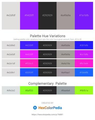 Palette image download - Gainsboro – Dark Violet – Black – Dark Gray – Dark Violet