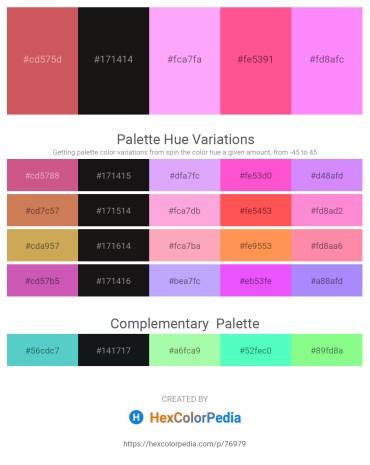 Palette image download - Indian Red – Black – Pink – Hot Pink – Violet