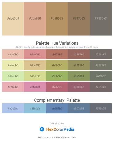 Palette image download - Pale Goldenrod – Burlywood – Dark Khaki – Rosy Brown – Dim Gray