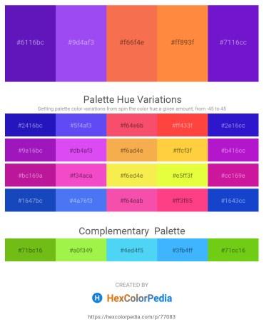 Palette image download - Blue Violet – Medium Slate Blue – Tomato – Coral – Blue Violet