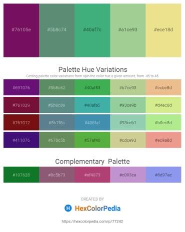 Palette image download - Purple – Cadet Blue – Medium Sea Green – Dark Sea Green – Khaki