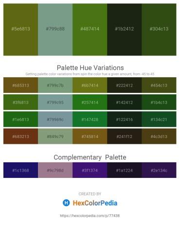 Palette image download - Olive Drab – Cadet Blue – Olive Drab – Black – Dark Slate Gray