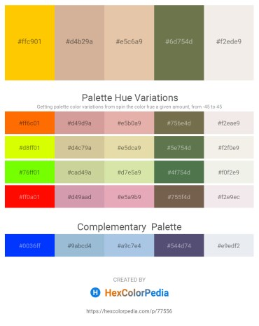 Palette image download - Gold – Tan – Burlywood – Dark Olive Green – White Smoke