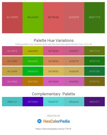 Palette image download - Indian Red – Olive – Indian Red – Indian Red – Forest Green