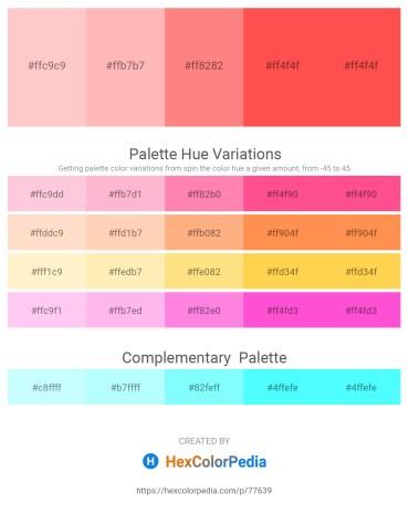 Palette image download - Pink – Light Pink – Salmon – Tomato – Tomato