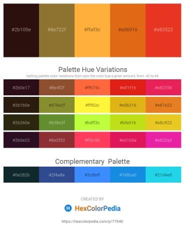 Palette image download - Aqua – Saddle Brown – Dark Goldenrod – Chocolate – Crimson