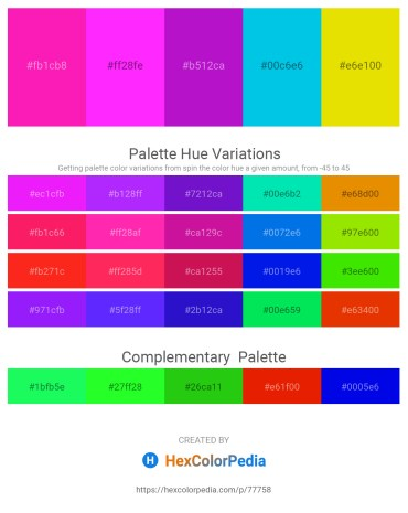 Palette image download - Deep Pink – Magenta – Dark Violet – Dark Turquoise – Gold