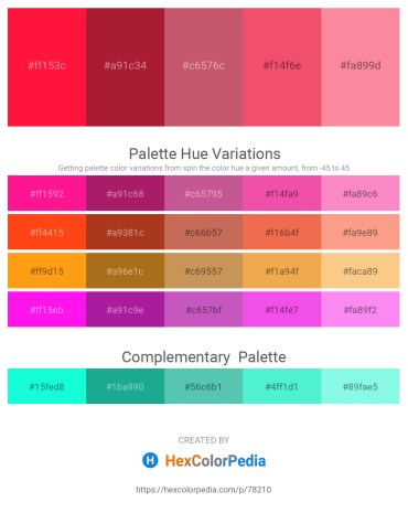 Palette image download - Red – Firebrick – Indian Red – Light Coral – Salmon
