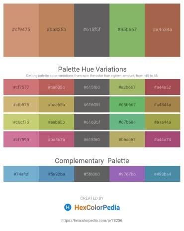 Palette image download - Tan – Blue Violet – Dim Gray – Dark Sea Green – Sienna