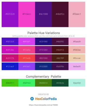 Palette image download - Blue Violet – Hot Pink – Midnight Blue – Pale Turquoise – Sky Blue