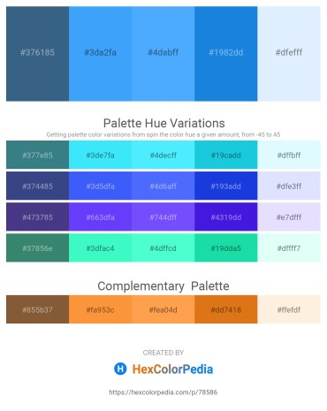 Palette image download - Dark Slate Blue – Dodger Blue – Dodger Blue – Royal Blue – Alice Blue