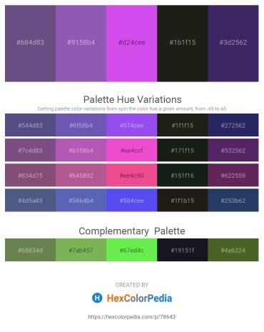 Palette image download - Dark Slate Blue – Slate Blue – Blue Violet – Black – Dark Slate Blue