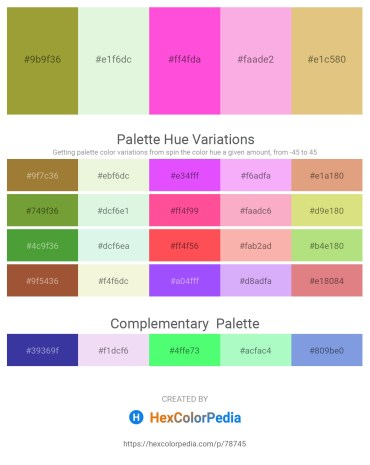 Palette image download - Yellow Green – Beige – Hot Pink – Pink – Burlywood