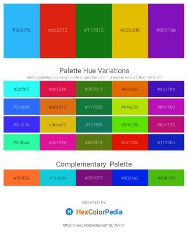 Palette image download - Dodger Blue – Crimson – Forest Green – Gold – Dark Violet