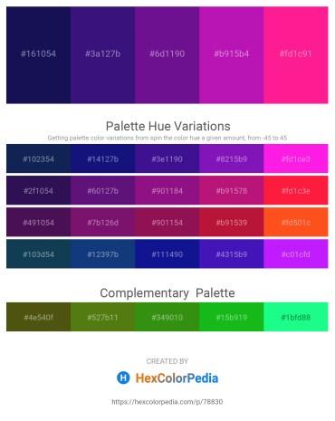 Palette image download - Midnight Blue – Midnight Blue – Indigo – Medium Violet Red – Deep Pink