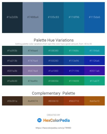 Palette image download - Dark Slate Gray – Light Slate Gray – Dark Khaki – Dark Cyan – Dark Goldenrod