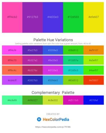 Palette image download - Hot Pink – Dark Orchid – Royal Blue – Lime – Gold