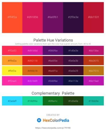 Palette image download - Tomato – Crimson – Purple – Midnight Blue – Crimson