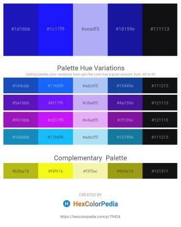 Palette image download - Medium Blue – Blue – Slate Blue – Midnight Blue – Dark Slate Blue