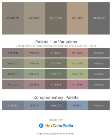Palette image download - Gray – Rosy Brown – Dim Gray – Rosy Brown – Dim Gray