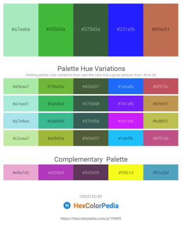Palette image download - Pale Turquoise – Lime Green – Dark Slate Gray – Blue – Indian Red