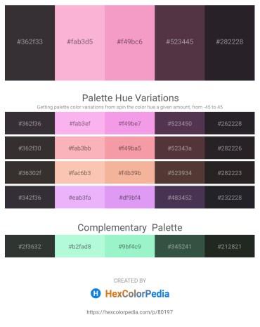 Palette image download - Black – Pink – Violet – Tan – Black