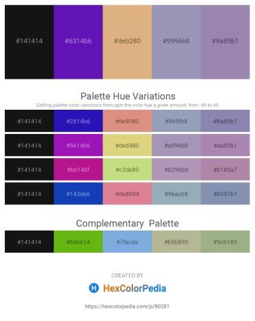 Palette image download - Black – Blue Violet – Burlywood – Light Slate Gray – Light Slate Gray