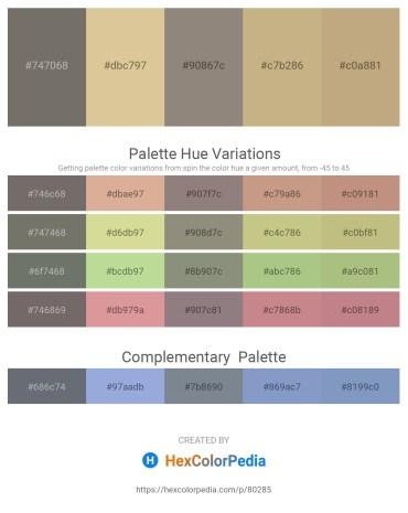 Palette image download - Dim Gray – Tan – Gray – Tan – Dark Khaki