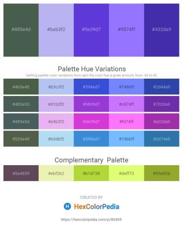 Palette image download - Dark Slate Gray – Lavender – Blue Violet – Medium Slate Blue – Dark Slate Blue