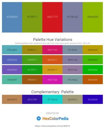 Palette image download - Steel Blue – Dark Slate Gray – Crimson – Light Slate Gray – Olive