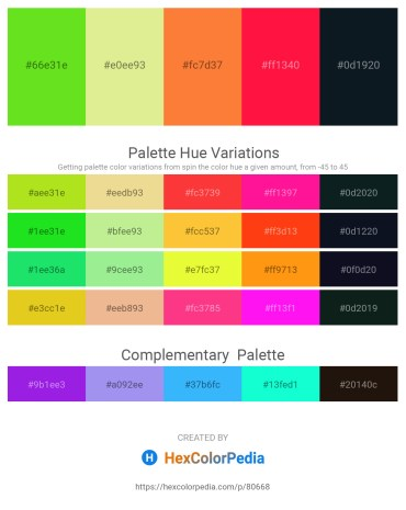 Palette image download - Yellow Green – Khaki – Coral – Red – Dark Slate Gray