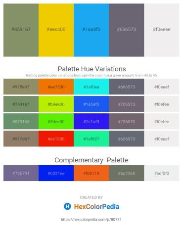 Palette image download - Dark Sea Green – Gold – Dodger Blue – Slate Gray – White Smoke