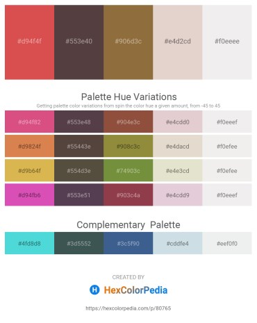 Palette image download - Indian Red – Dim Gray – Sienna – Thistle – White Smoke