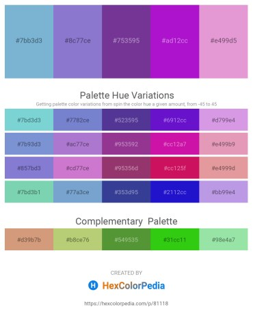 Palette image download - Yellow Green – Medium Purple – Dark Slate Blue – Blue Violet – Plum