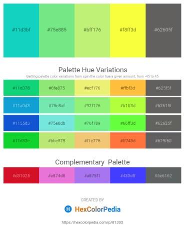 Palette image download - Dark Turquoise – Light Green – Khaki – Yellow – Dim Gray