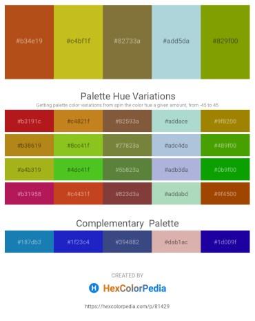 Palette image download - Chocolate – Goldenrod – Dark Olive Green – Light Steel Blue – Olive