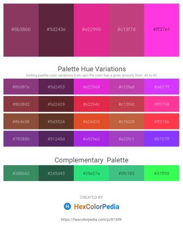 Palette image download - Brown – Blue Violet – Medium Violet Red – Indian Red – Magenta