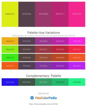 Palette image download - Yellow – Dim Gray – Gray – Medium Violet Red – Deep Pink
