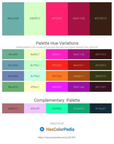 Palette image download - Cadet Blue – Honeydew – Deep Pink – Firebrick – Midnight Blue
