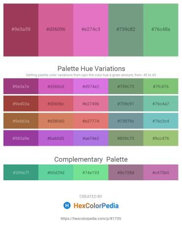 Palette image download - Brown – Pale Violet Red – Orchid – Cadet Blue – Medium Aquamarine