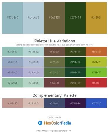 Palette image download - Light Steel Blue – Light Steel Blue – Dark Olive Green – Dark Olive Green – Peru