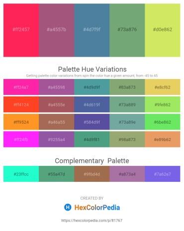 Palette image download - Deep Pink – Blue – Steel Blue – Dark Sea Green – Khaki
